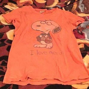 Snoopy Peanuts 'I love nerds' T-shirt